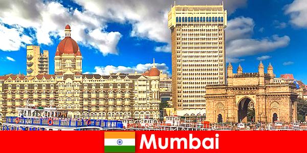 Mumbai en vigtig metropol i Indien for økonomi og turisme