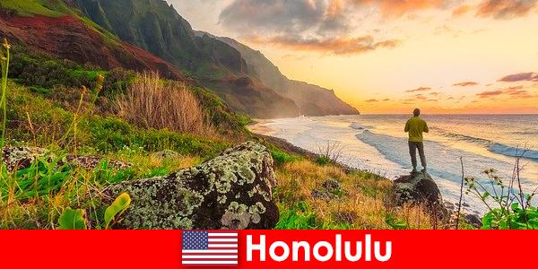 Honolulu kendt for strande, hav, solnedgange for wellness og rekreation ferie