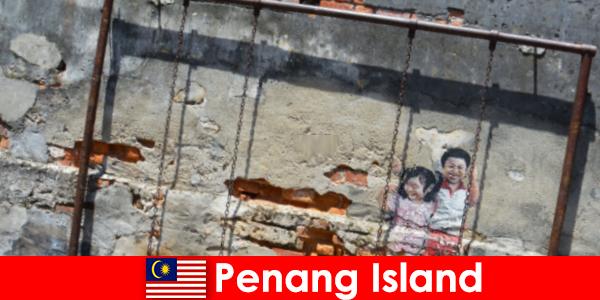 Fascinerende og forskelligartet gadekunst i Penang Island forbløffer fremmede