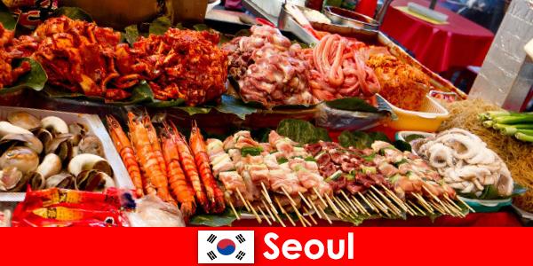 Seoul også berømt blandt rejsende for sin lækre og kreative gade mad