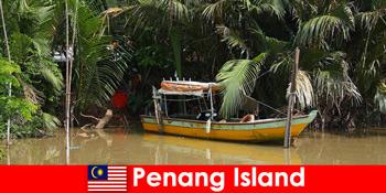 Langdistancetur for vandrere gennem junglen på Penang Island Malaysia