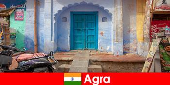 Rejse til udlandet til Agra Indien i landdistrikterne landsbyliv