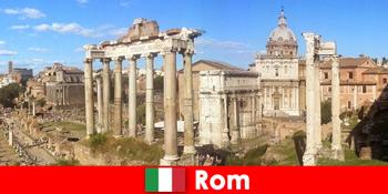 Busture for europæiske gæster til de gamle udgravninger og ruiner i Rom Italien