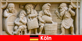 Bryggeri kunst med lokalt køkken i Köln Tyskland for europæiske ugentlige gæster